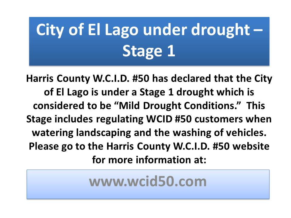 WCID 50 - Stage 1 Drought